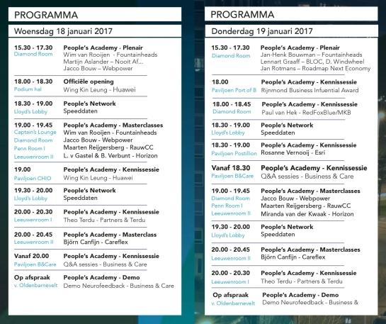 Programma 18 & 19 jan
